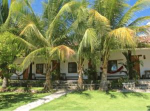 Haus mit Palmen